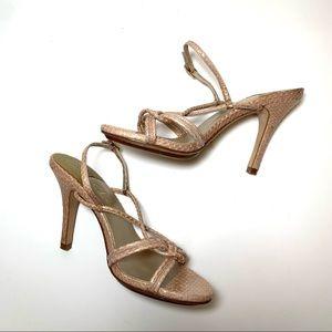 New Cole Haan Sari Air Snake Strappy Heel Sandal